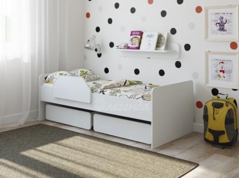 Детская кровать от 3 лет Легенда 27.1 белая