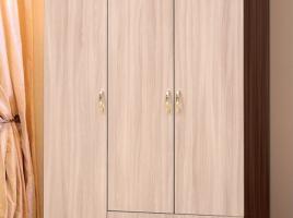 Шкаф для платья и белья 3-х дверный с ящиками