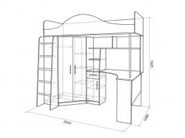 Кровать-чердак Амели